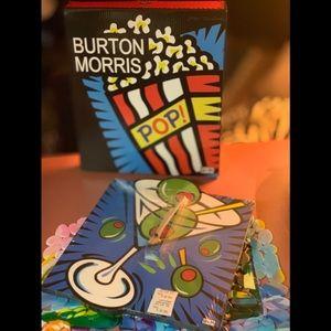 NWT  Burton Morris Martini Wall Clock 🍸